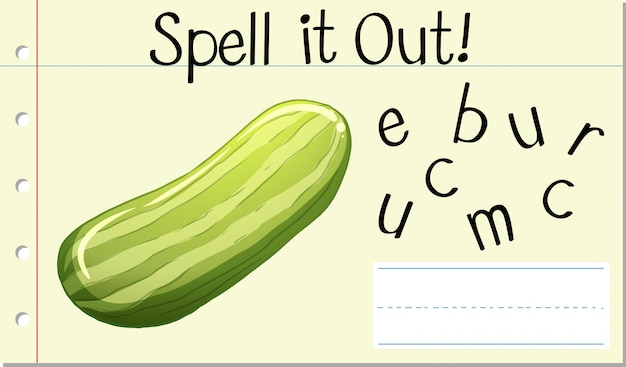 Spell it out cucumber