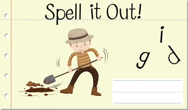 Spell it out dig