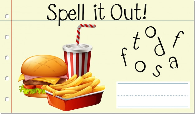 Spell it out fastfood
