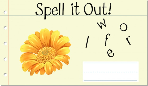 Spell it out flower