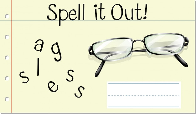 Spell it out glasses