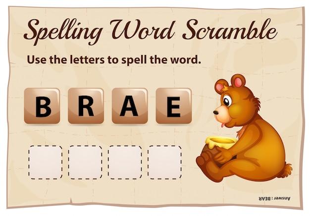 Правописание слова схватка за слово медведь