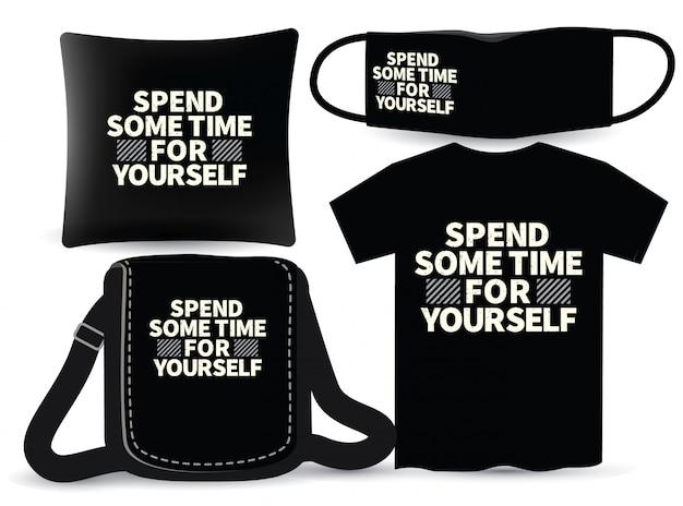 Tシャツとマーチャンダイジングのタイポグラフィデザインを自分で時間を費やしてください
