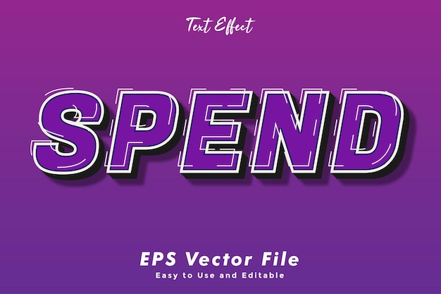 Spend text effect editable and easy to use typography effect
