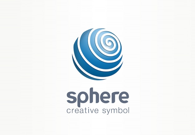 Sphere creative internet symbol concept. globe communication network abstract web business logo. digital earth data, social media technology icon.