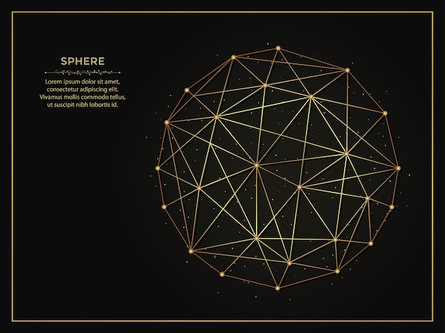 Sphere golden abstract background