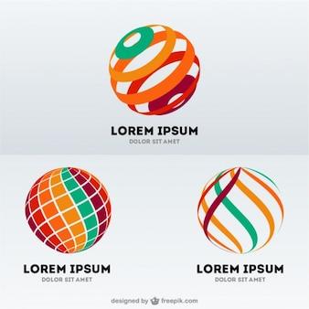 球形抽象的なロゴ