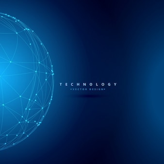 Sphere wireframe technology background