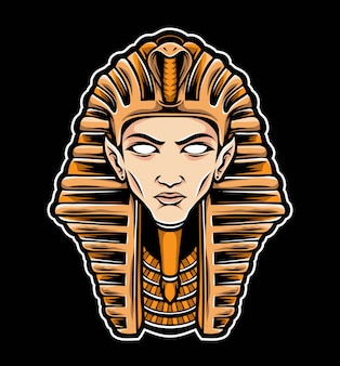 Sphinx head vector