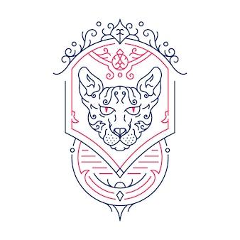 スフィンクス猫の装飾飾り1