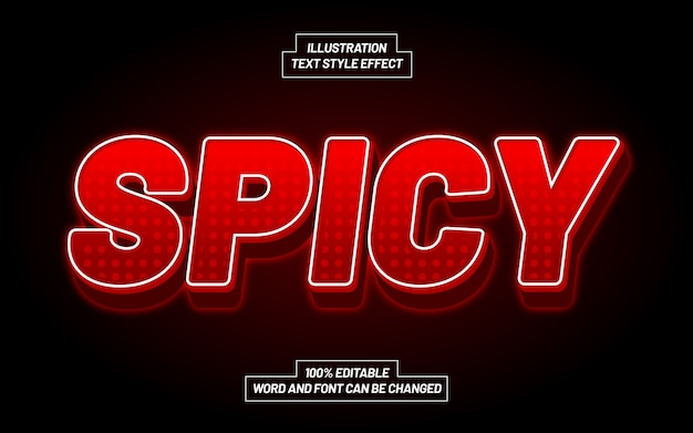 Spicy 3d bold text style effect