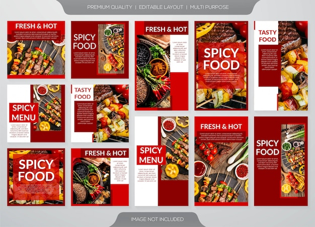 Spicy food posts for social media