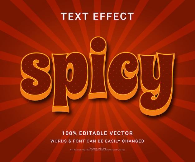 Пряный полный редактируемый текстовый эффект