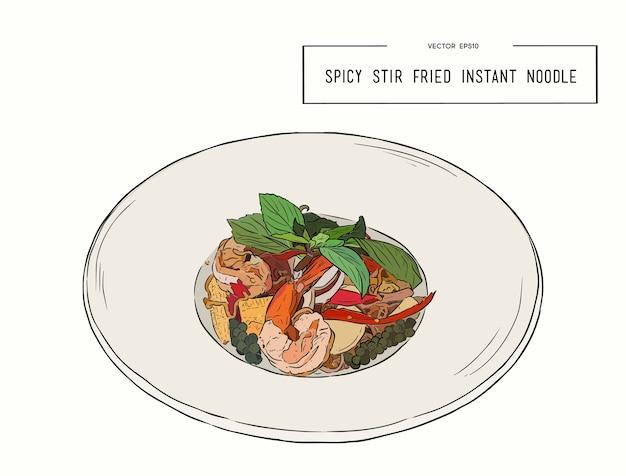 Spicy stir fried noodle