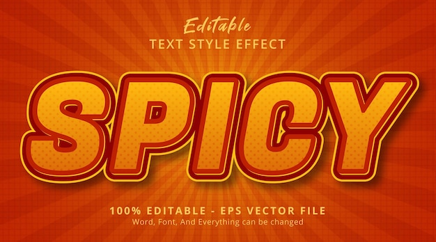 Spicy text on burning banner style effect, editable text effect