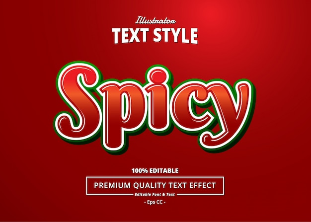 Spicy text effect