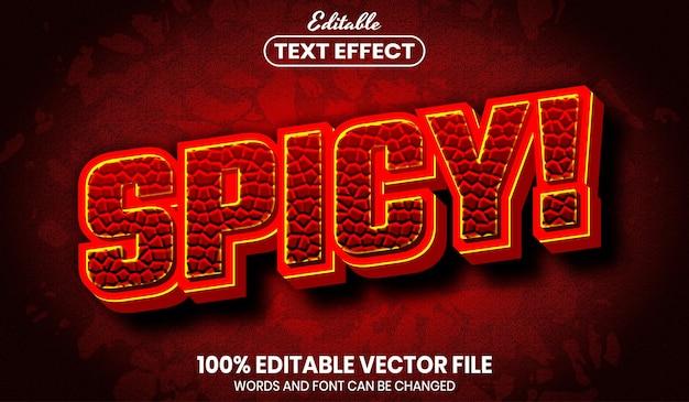 매운 느낌의 텍스트, 글꼴 스타일 편집 가능한 텍스트 효과