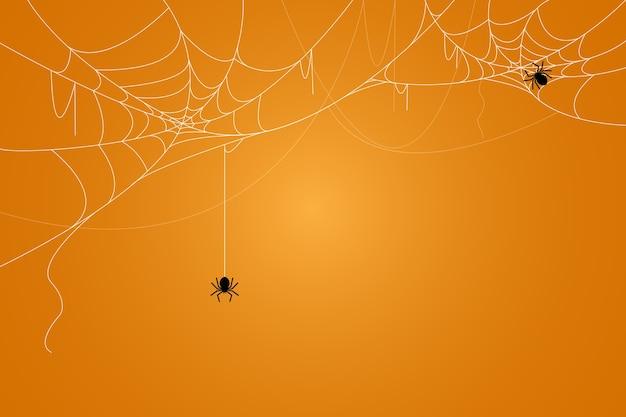 거미와 거미줄 배경. 할로윈의 무서운