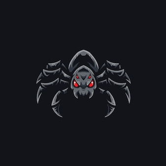 Шаблон логотипа спортивной команды spider