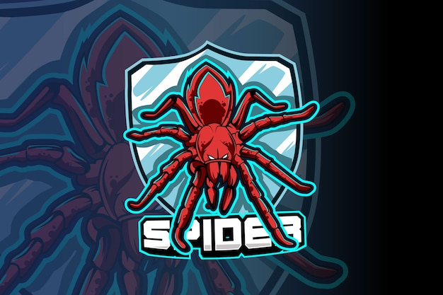 Spider e-sports team logo template