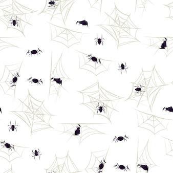 Spider halloween seamless pattern party cobweb.