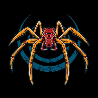 Spider  illustration on dark background