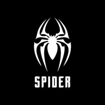 거미 곤충 절지동물 로고 거미 기호 프리미엄 벡터