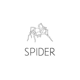 스파이더 로고 그래픽 디자인 컨셉입니다. 편집 가능한 스파이더 요소는 웹 및 인쇄의 로고, 아이콘, 템플릿으로 사용할 수 있습니다.