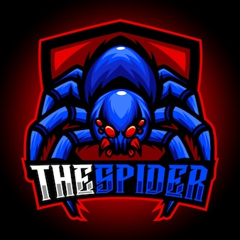 スパイダーマスコットeスポーツロゴ