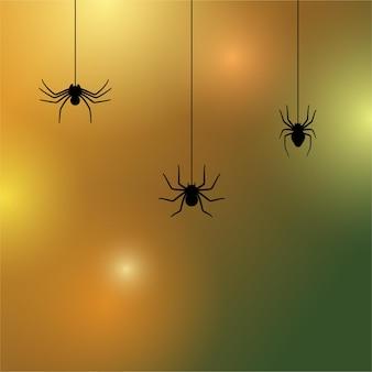 Значок силуэт паука. украшение или татуировка на хэллоуин. наброски простой вдовы