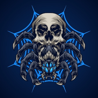 Иллюстрация черепа паука