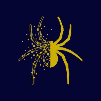 Spider technology graphic abstract shape modern