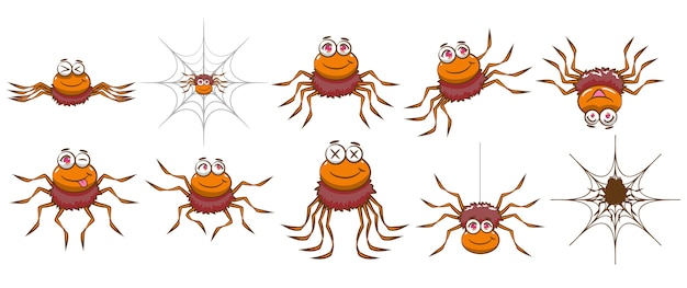 Spider vector set clipart design