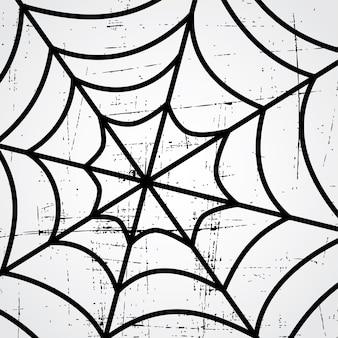 Spider web art theme vector art illustration