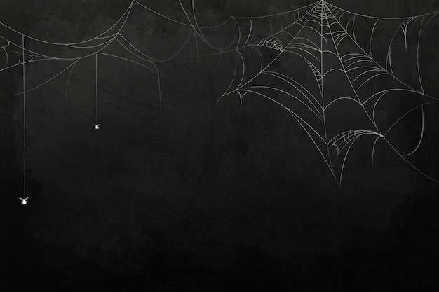 Spider web element onblack background template