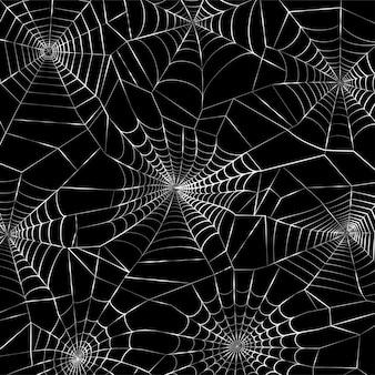 거미줄 패턴입니다. 거미줄과 할로윈 장식입니다. 거미줄 벡터 일러스트 레이 션