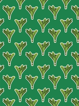 Spinach pattern on green