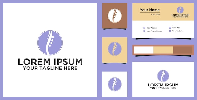 Spine health and business card inspiration premium vector