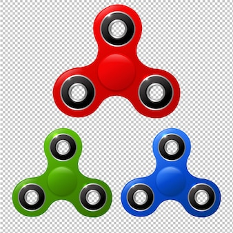 Spinners set,  illustration