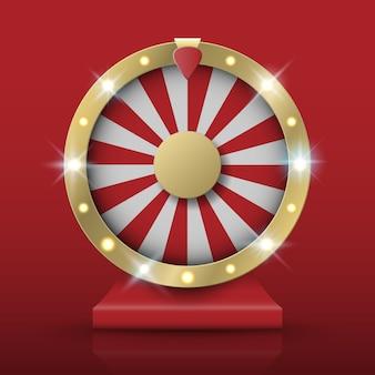 Spinning fortune wheel