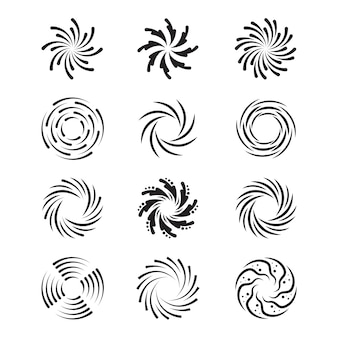 Spinning swirls set