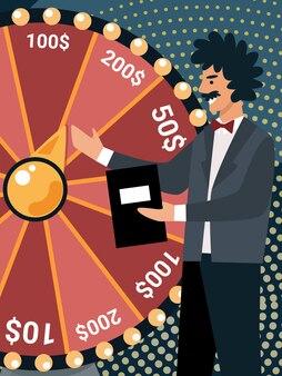 Телеведущий персонаж spinning wheel of fortune