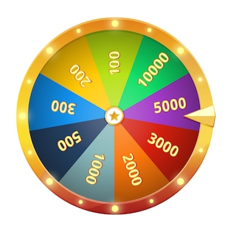 Spinning wheel with prizes. game roulette. vector illustration isolate. fortune gambling wheel