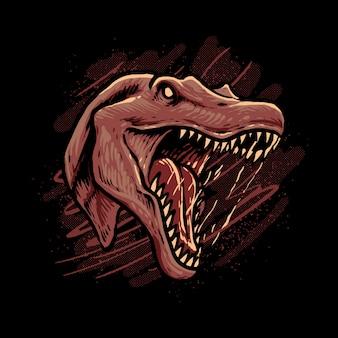 Spinosaurus head art  illustration