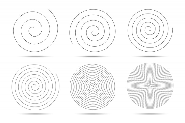 Spiral circles design elements.