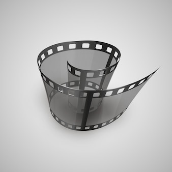 Spiral of film strip