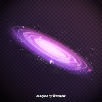 スパイラル銀河の背景