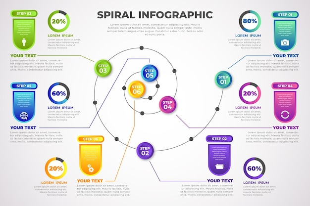 Spiral infographic concept
