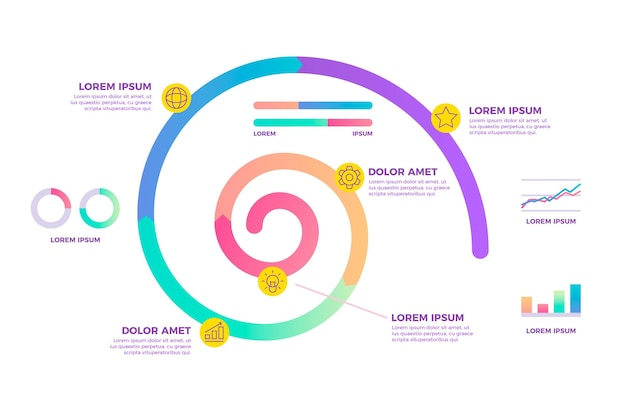 Spiral infographic