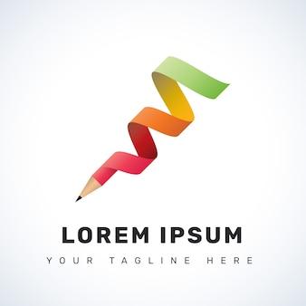 Spiral pencil logo